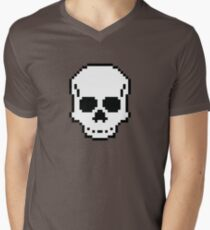 Pixel Skull Men's V-Neck T-Shirt