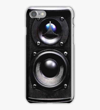 black speaker iPhone Case/Skin