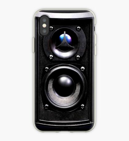 black speaker iPhone Case