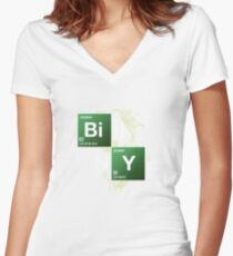 Bill Nye the Science Guy Women's Fitted V-Neck T-Shirt