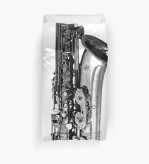 saxophone abstract Duvet Cover