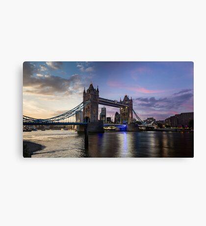 Tower Bridge Sunset - London, UK Canvas Print
