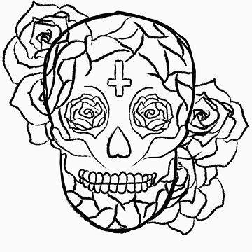 Sugar Skull (Smiling) by elainejoven
