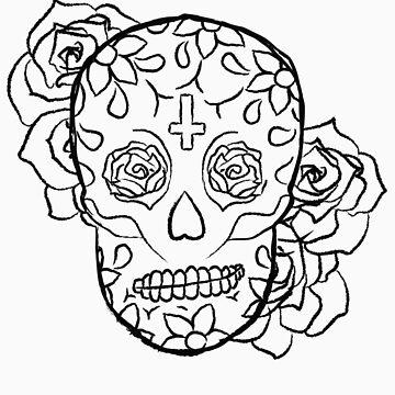 Sugar Skull (Smirking) by elainejoven