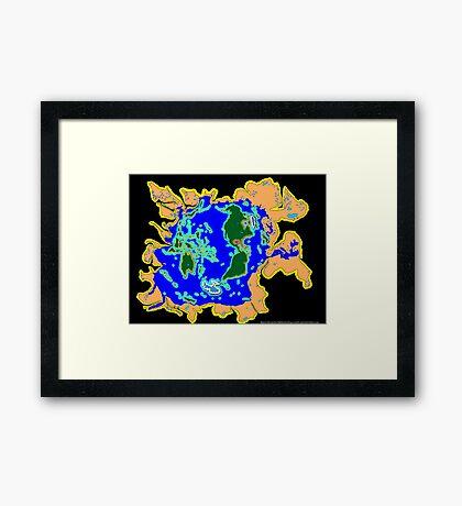 World Watersheds Framed Print