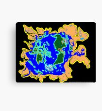 World Watersheds Canvas Print