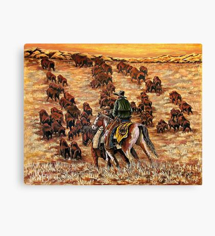 Driving The Herd, The Painting Canvas Print