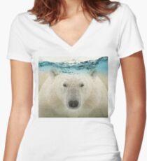 Polar Women's Fitted V-Neck T-Shirt
