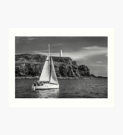 Sailing past the Baltimore Beacon Art Print