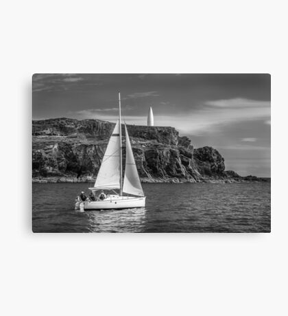 Sailing past the Baltimore Beacon Canvas Print
