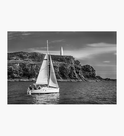 Sailing past the Baltimore Beacon Photographic Print