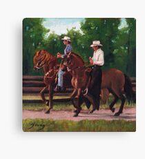 Paso Fino Horses Canvas Print