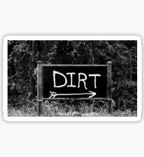 Rural Area Sign Sticker