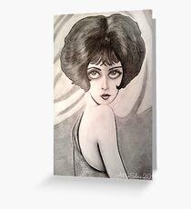 Clara Bow Caricature Greeting Card