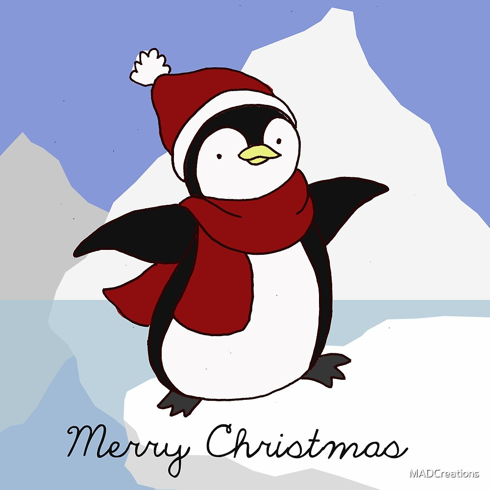 Merry Christmas Penguin by MADCreations