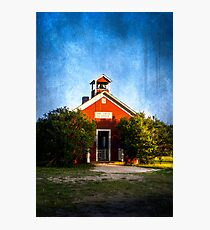 Little Red Schoolhouse Photographic Print