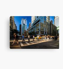 Chicago street in the setting sun Canvas Print
