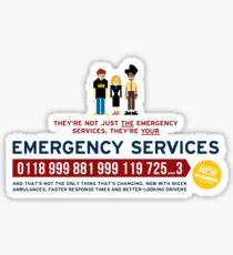 IT Crowd - Emergency Services Sticker