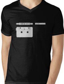 Cassette Tape Projection Mens V-Neck T-Shirt