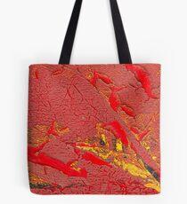 Red Beneath Tote Bag