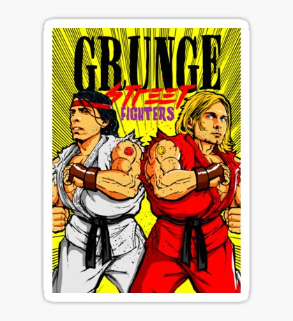 Grunge Street Fighters Sticker