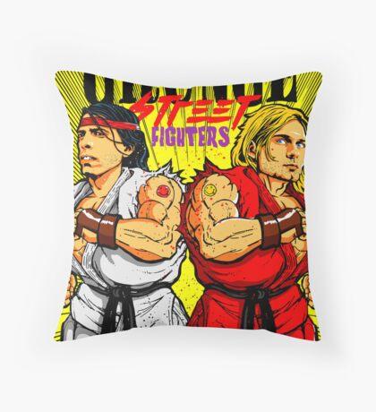 Grunge Street Fighters Throw Pillow