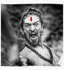 Shouting Sadhu Poster