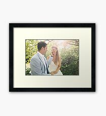 Groom Caressing Bride Framed Print