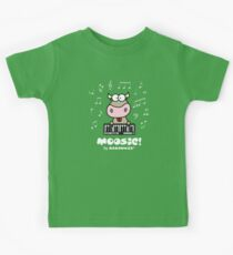 Moosic - Fun Cow playing piano Kids Tee