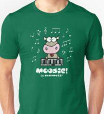 Moosic - Fun Cow playing piano T-Shirt