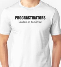 PROCRASTINATORS funny college beer nerd T-Shirt