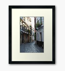 [A Street] of Triana Framed Print