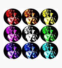 Ariel Pink Round Popart Photographic Print