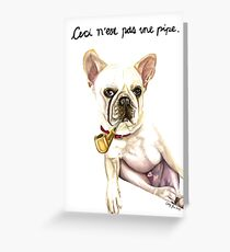 Ceci n'est pas une pipe.  Greeting Card