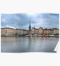 Gloomy Sky Over Stockholm Poster