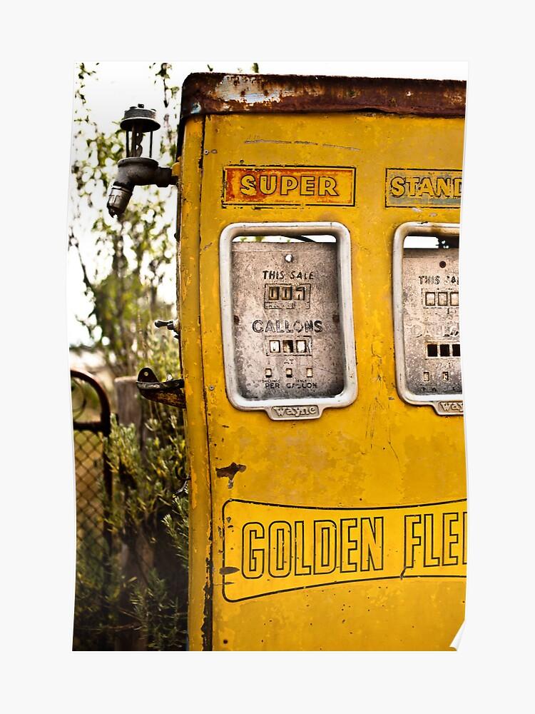 Old Petrol Pump   Poster