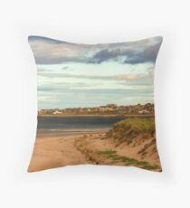 LOSSIEMOUTH - WEST BEACH IN AUTUMN Throw Pillow