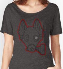 Gas Mask Wolf Broken Women's Relaxed Fit T-Shirt