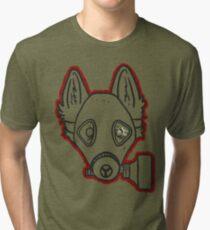Gas Mask Wolf Broken Tri-blend T-Shirt