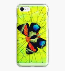 Butterfly on Flower Oil Pastel iPhone Case/Skin