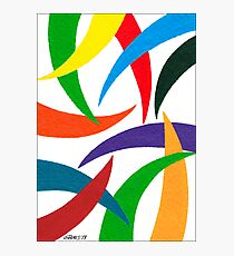 COLORED CURVES Photographic Print