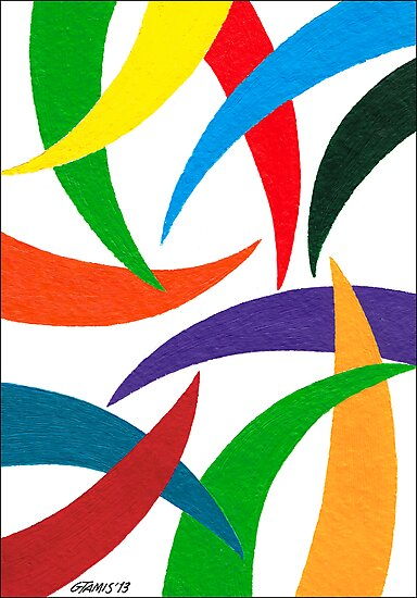 COLORED CURVES by RainbowArt