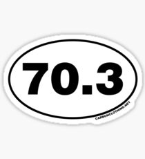 70.3 Miles Oval Sticker Sticker