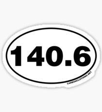 140.6 Miles Oval Sticker Sticker