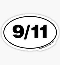 9/11 Oval Stickers Sticker