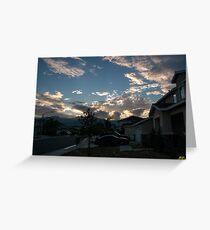 Neighborhood Sunrise Greeting Card