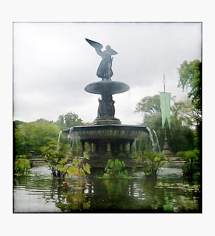 Central Park Angel Photographic Print