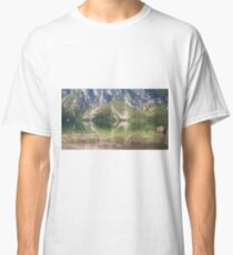 Hillside river reflections Classic T-Shirt