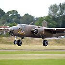 B-25 Mitchell on Take off by Andy Jordan