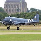 DC-3/C-47 Taking off from Shoreham airport by Andy Jordan